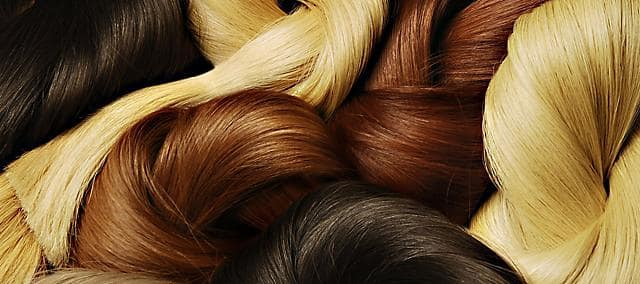 hair in different colors