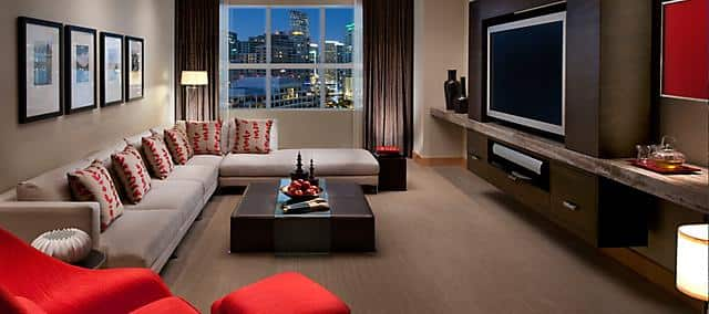 Skyline View of two-bedroom suite