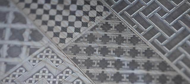 hotel details in grey patterns