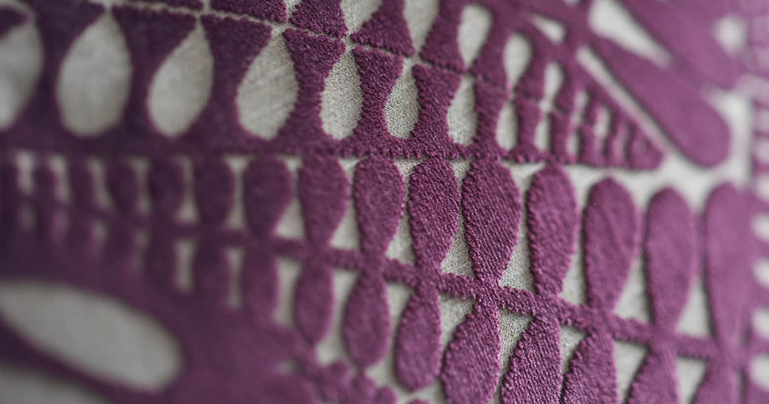 purple fabric pattern