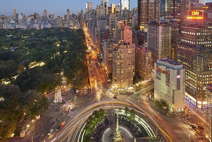 Incredible views of Central Park from Mandarin Oriental's 5-star hotel in New York City.