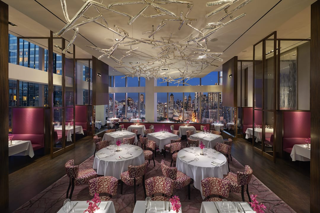 Asiate fine dining seating area