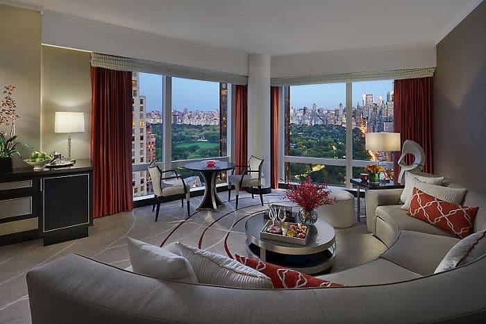 Central Park View Hotel Suite Mandarin Oriental New York