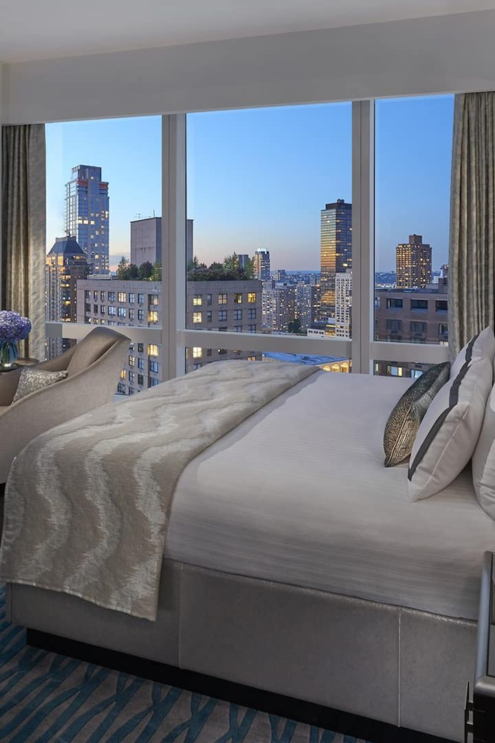 bedroom with hudson river view