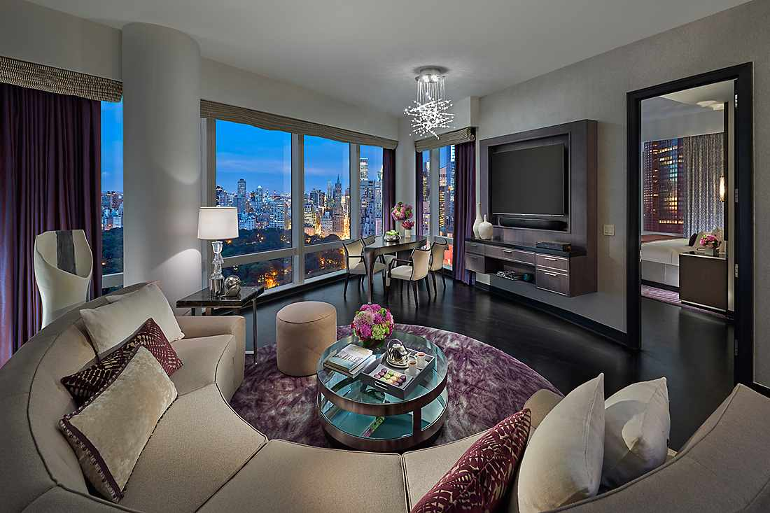 Mandarin New York Two Bedroom Central Park West Suite living room
