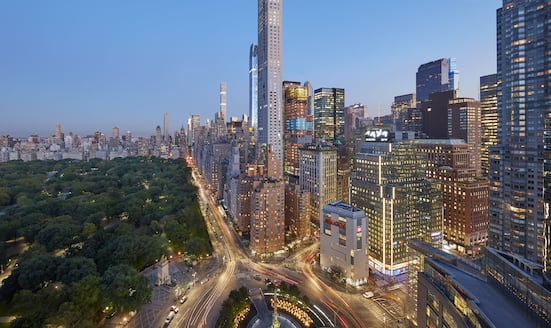 View of Central Park and Columbus Circle from Mandarin Oriental, New York