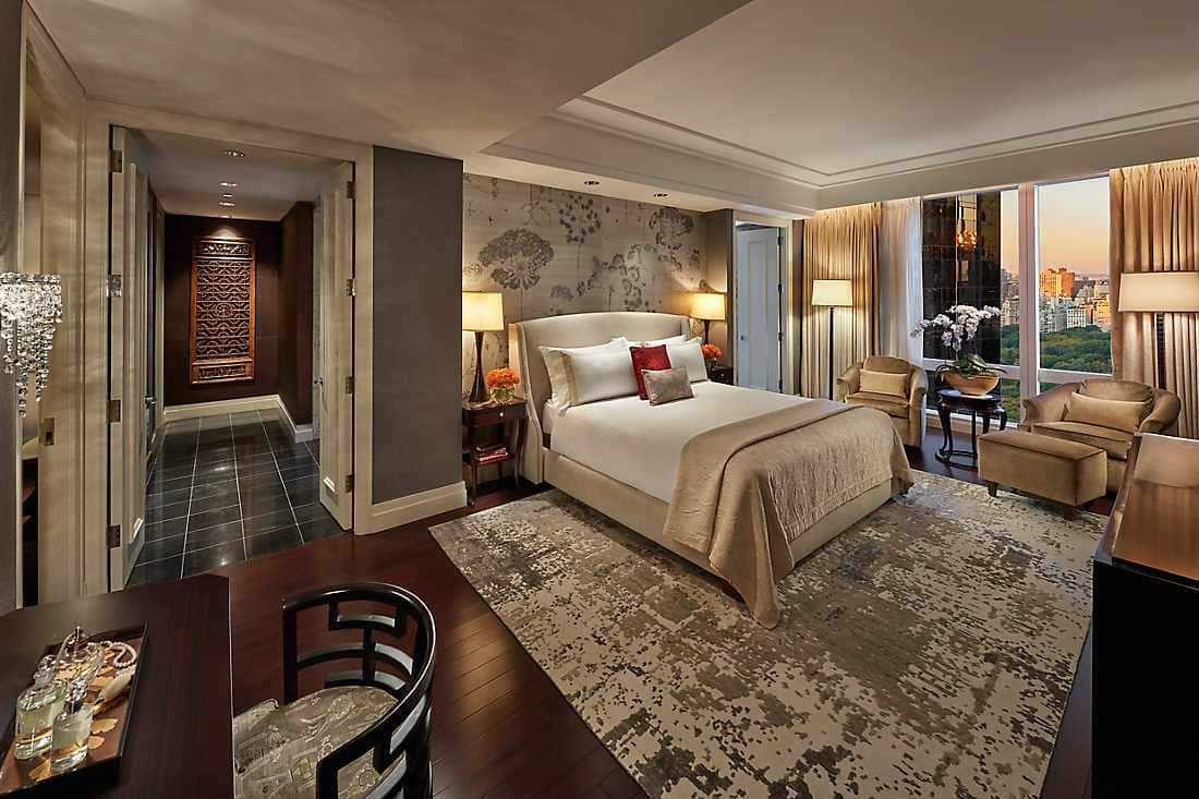 mandarin new york presidential suite bedroom
