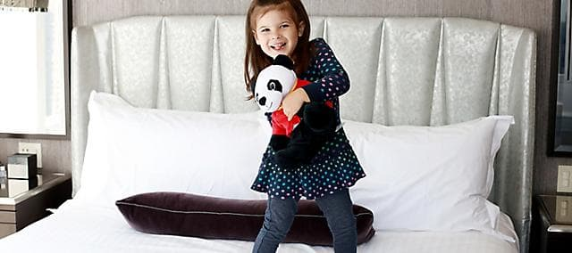girl with panda