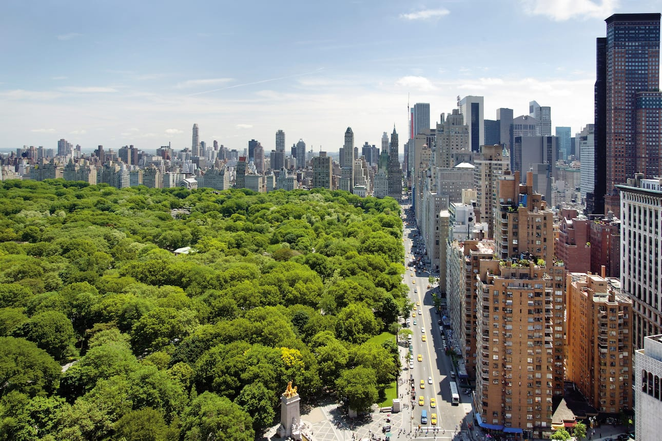 Central Park from Columbus Circle