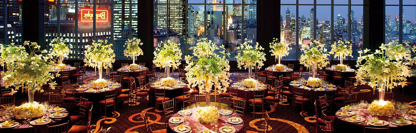 Mandarin Oriental, New York's spectacular hotel venues come with fantastic views.
