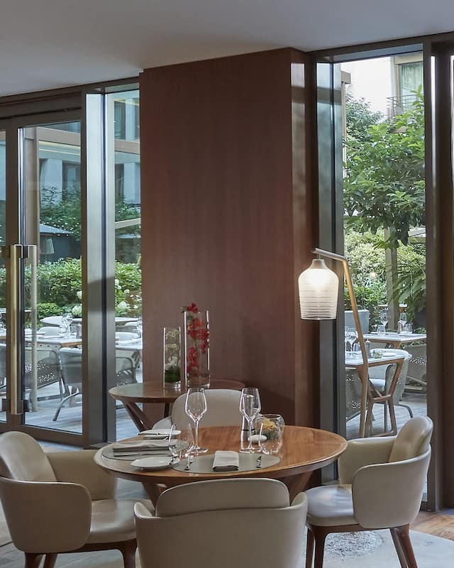 Beautiful dining room at Mandarin Oriental Canouan