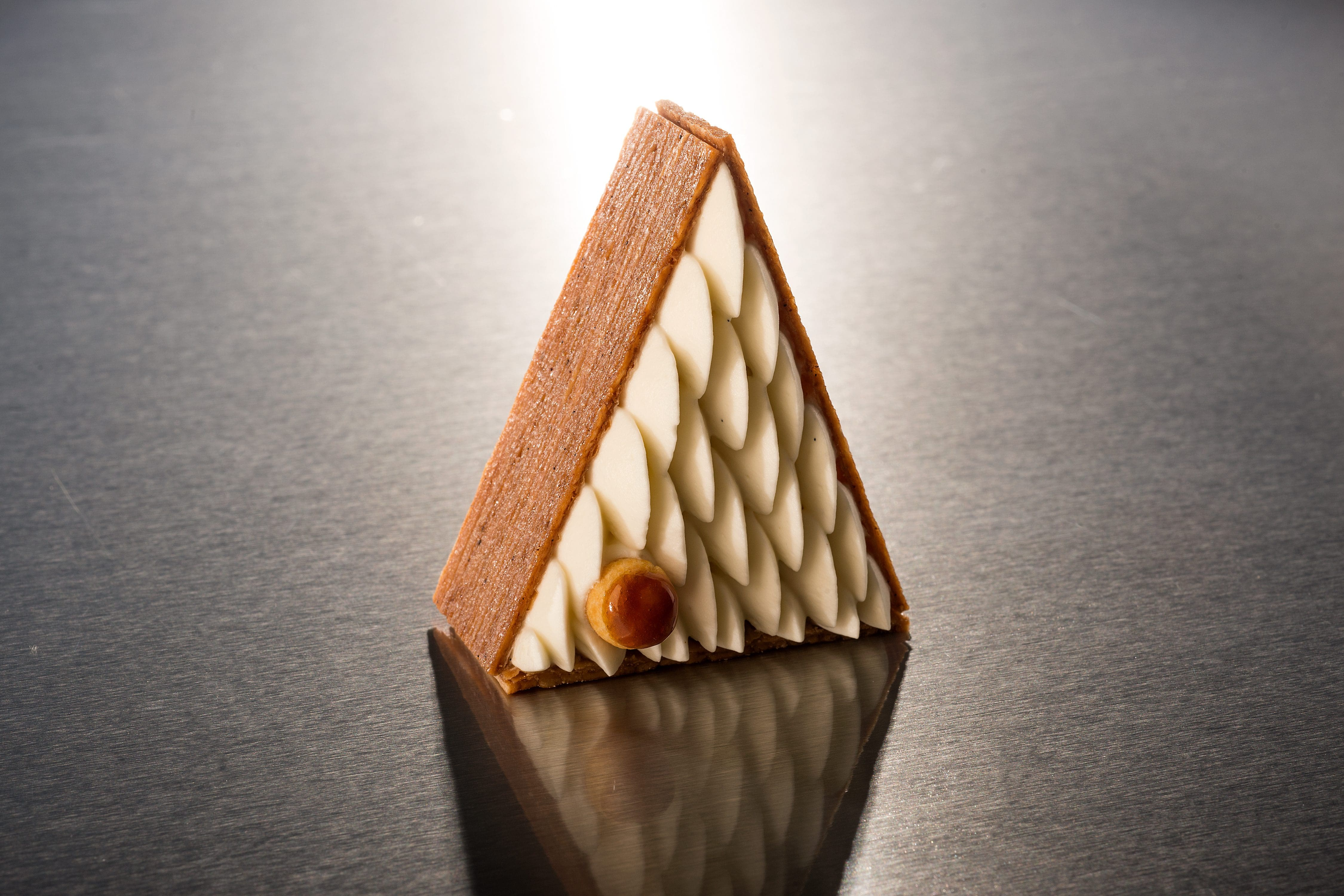 Triangular cake at the Mandarin Cake Shop at Mandarin Oriental, Paris