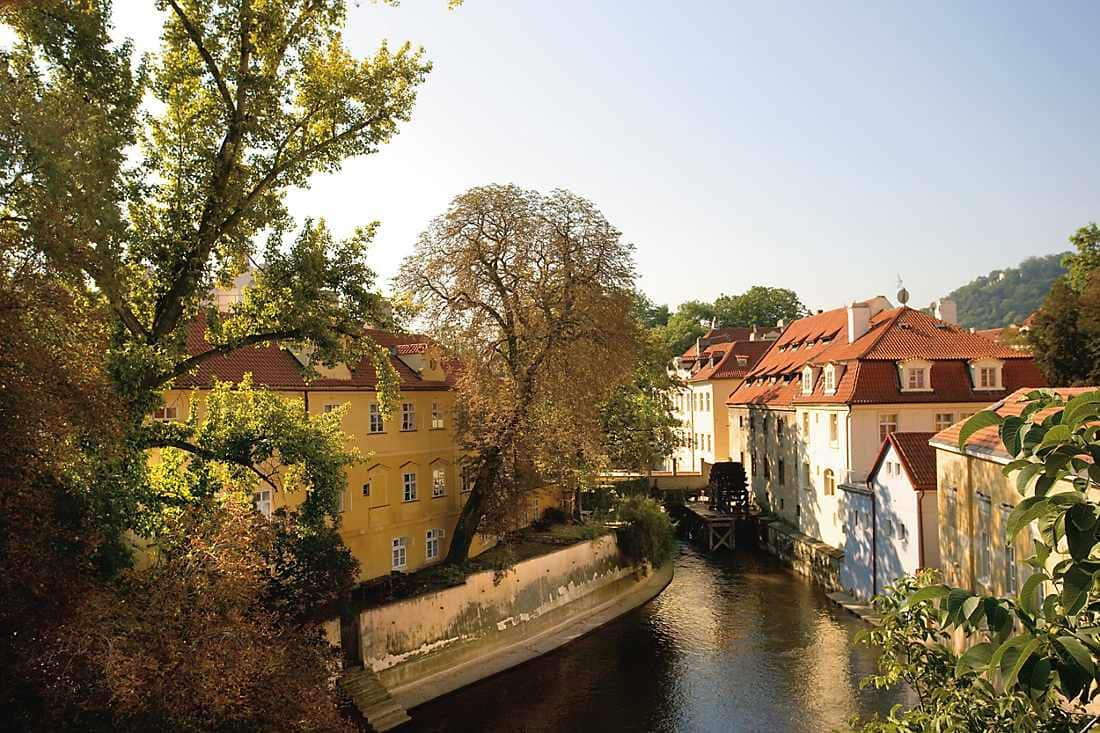 river view in prague