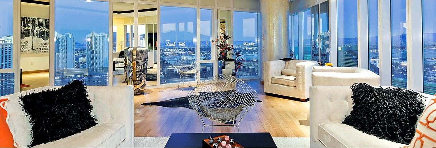 Serene Residences Perched High Above The Energy And Action Of The Strip