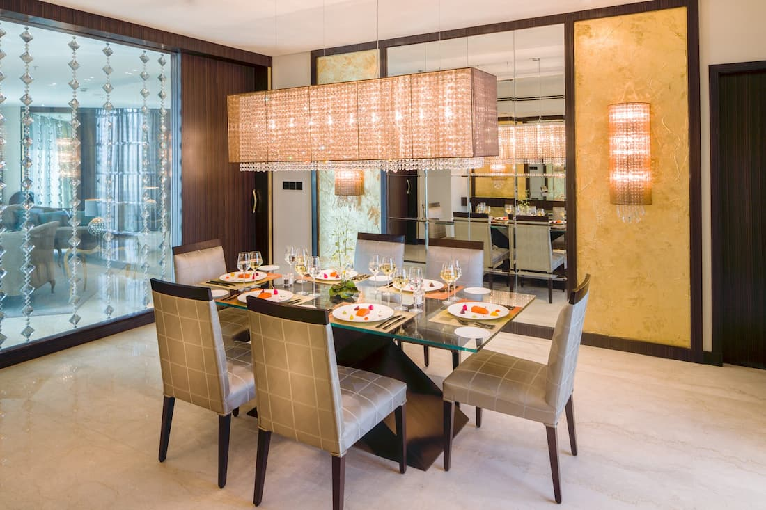 private dining in royal diamon suite dining room