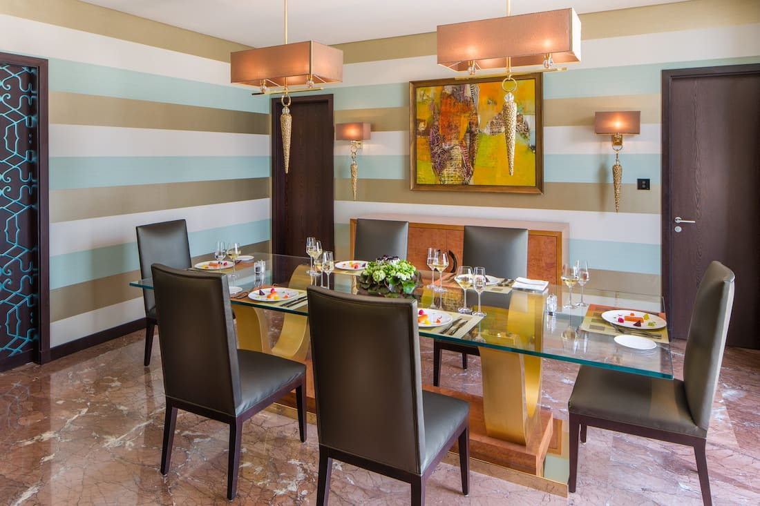 private dining in penthouse suite