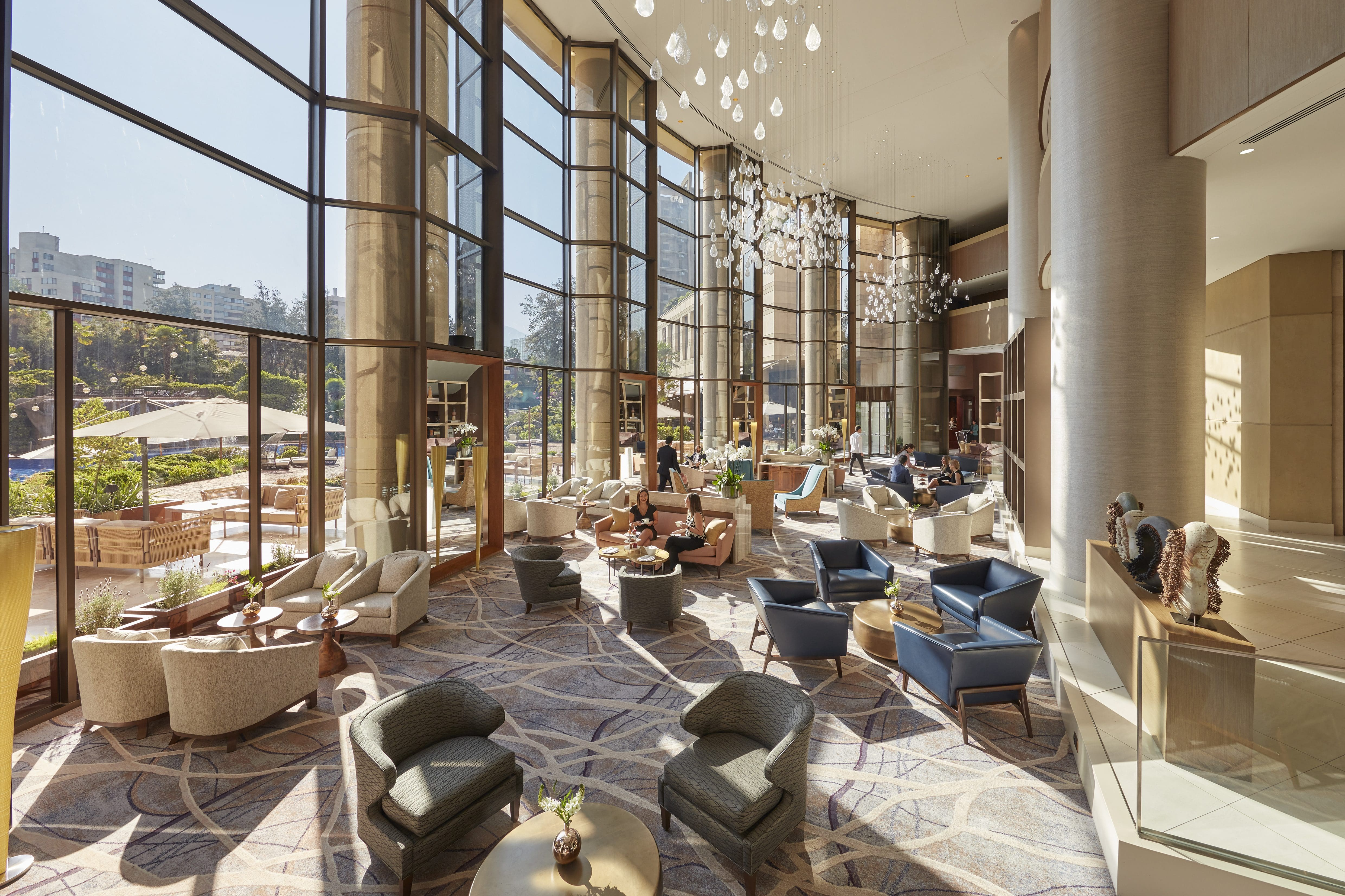 Atrium Lobby Lounge Mandarin Oriental Santiago