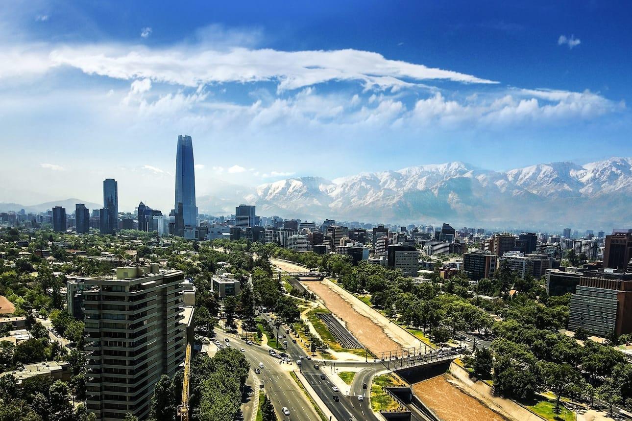 santiago cityscape view