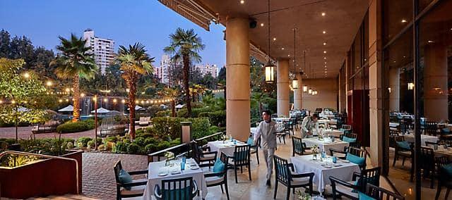 Outdoor dining at Senso restaurant