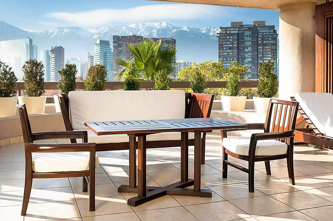 Luxury accommodations in las condes hotel santiago for Terrace 45 scout santiago