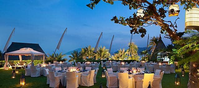 gala dinner in garden at mandarin oriental, sanya