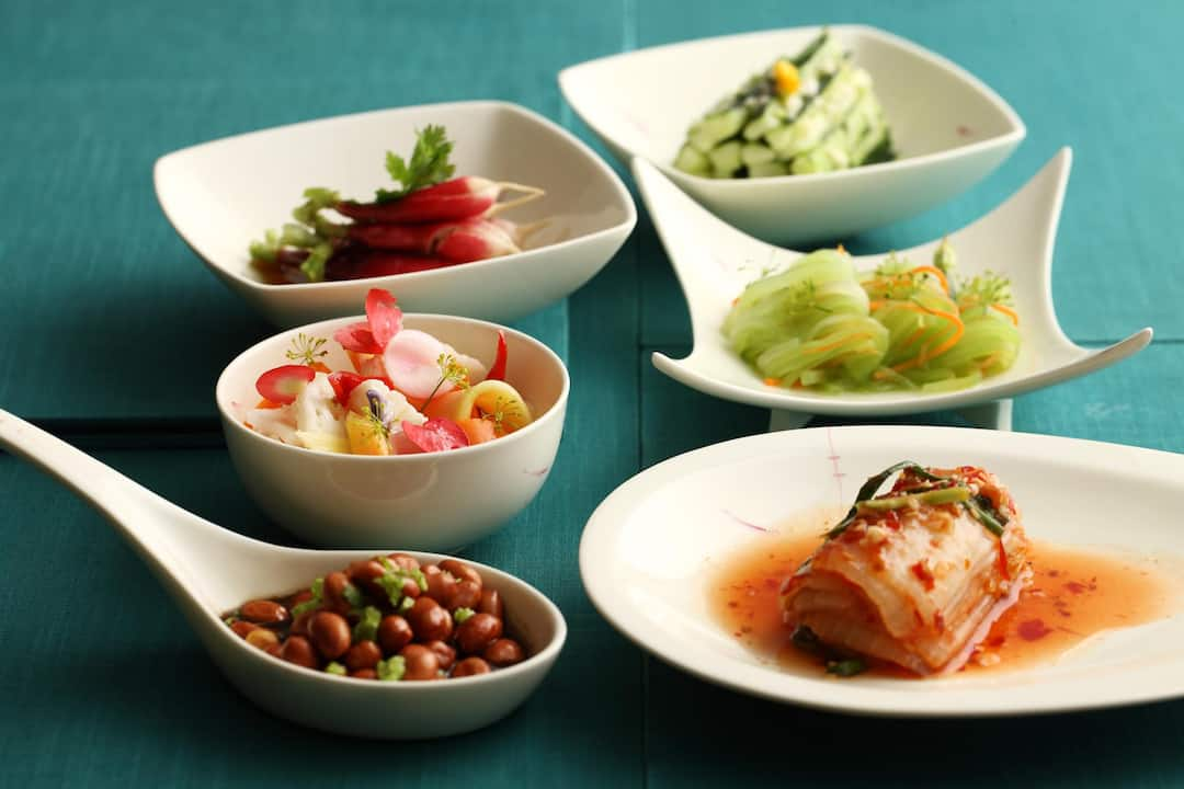 food from yi yang at mandarin oriental, sanya
