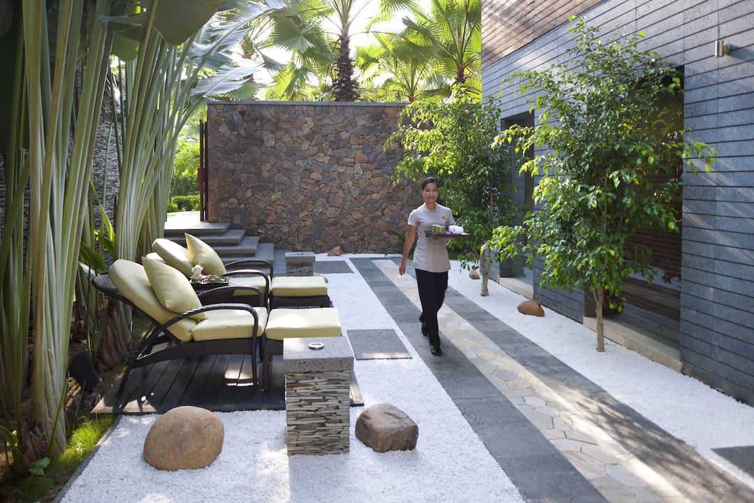 spa exterior at mandarin oriental, sanya