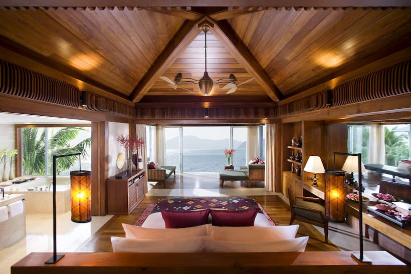ocean view pool villa bedroom