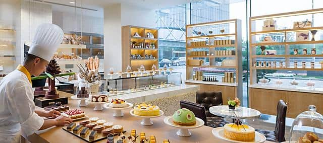 cake shop counter at Mandarin Oriental Pudong, Shanghai