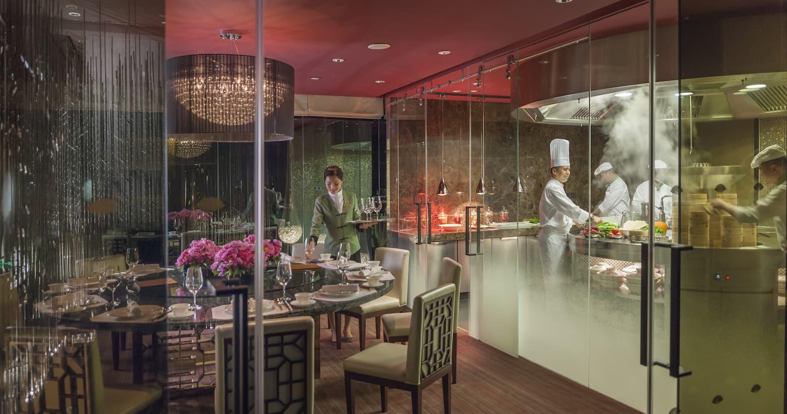 雍颐庭开放式厨房景观