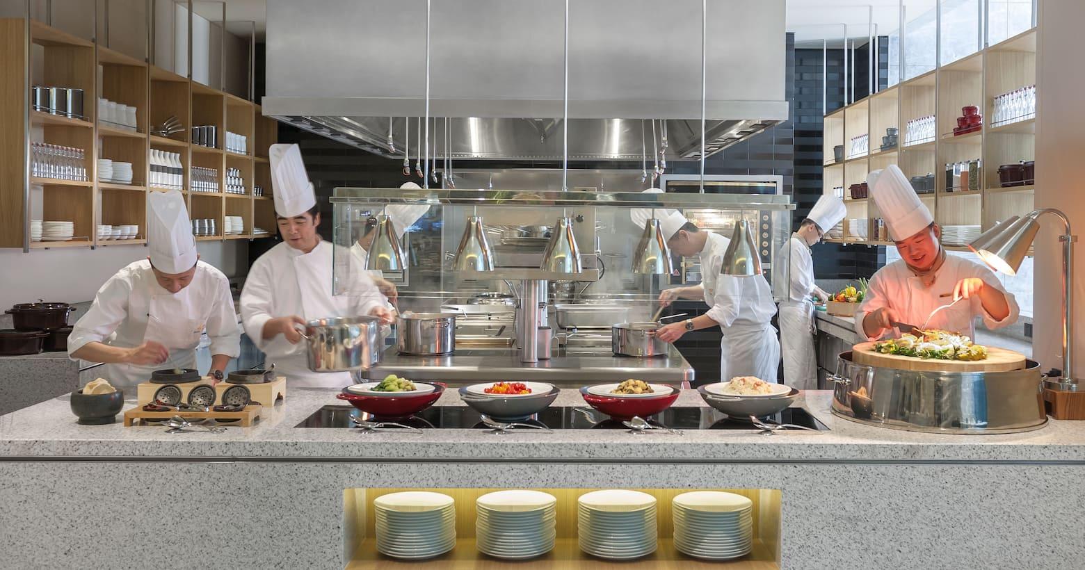 文华厨房的开放式厨房