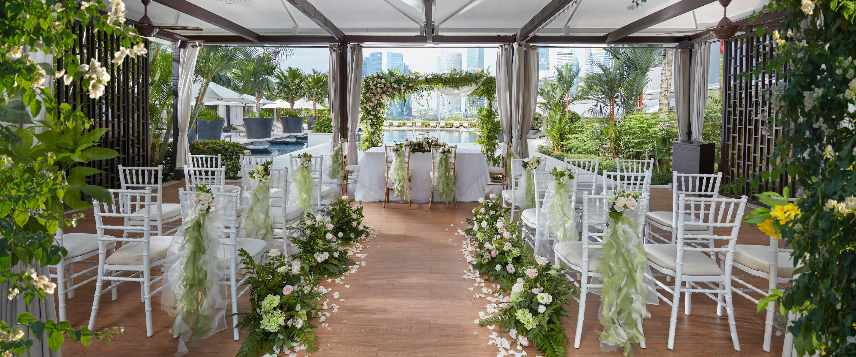 Luxury Wedding Reception Venue Marina Bay Hotel Mandarin Oriental Singapore
