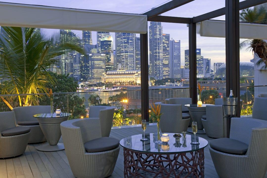 Luxury hotels singapore marina bay mandarin oriental - Hotel mandarin restaurante ...
