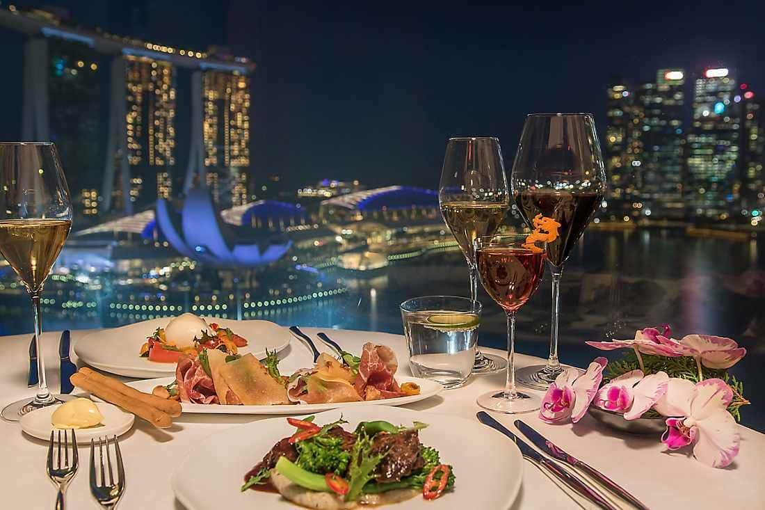 dine with city view at night