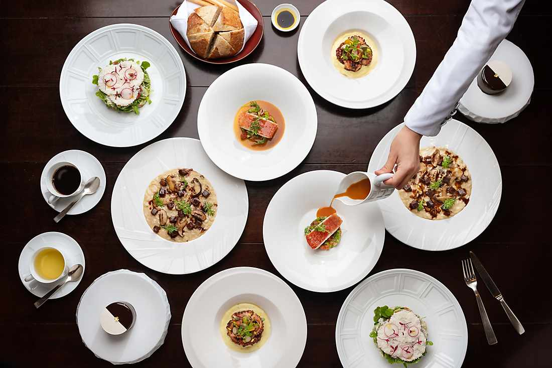 various dishes for gourmet getaway