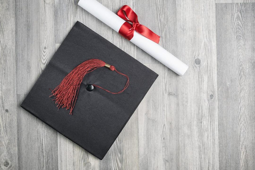 graduation cap with diploma