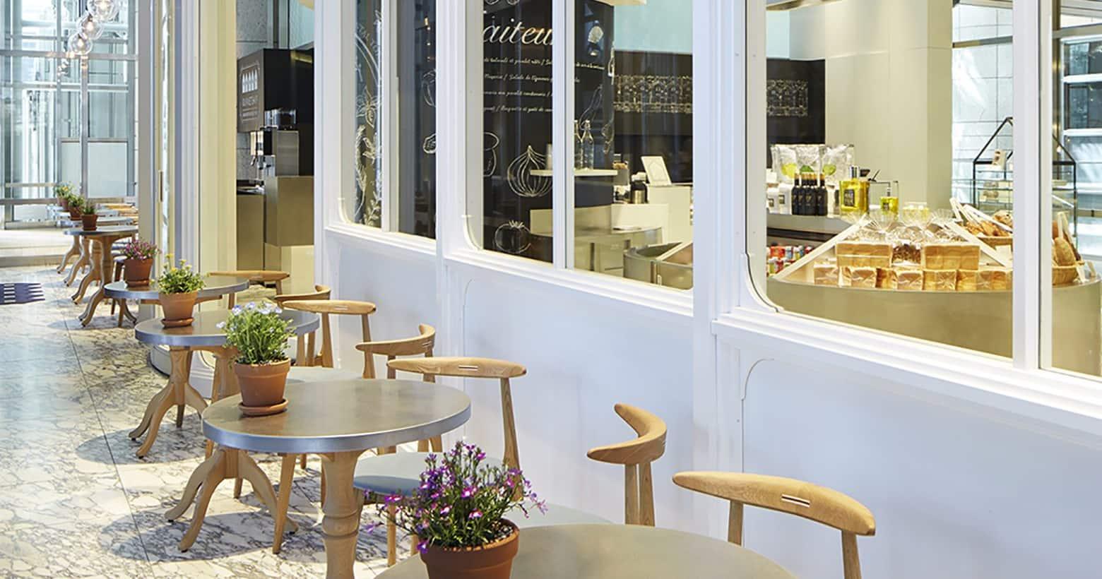 sitting area of The Mandarin Oriental Gourmet Shop