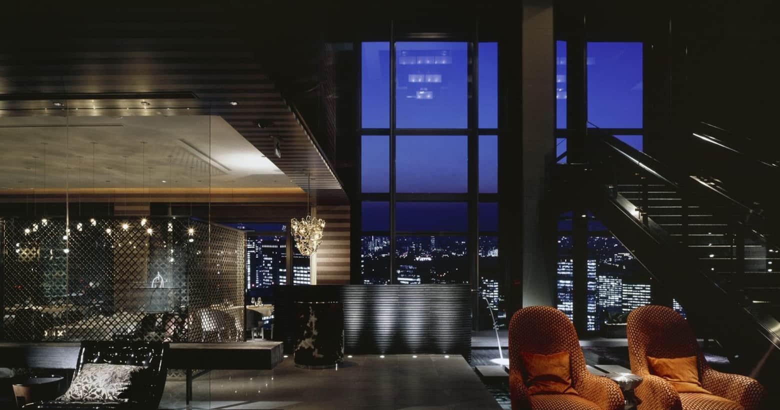 view of city from mandarin bar