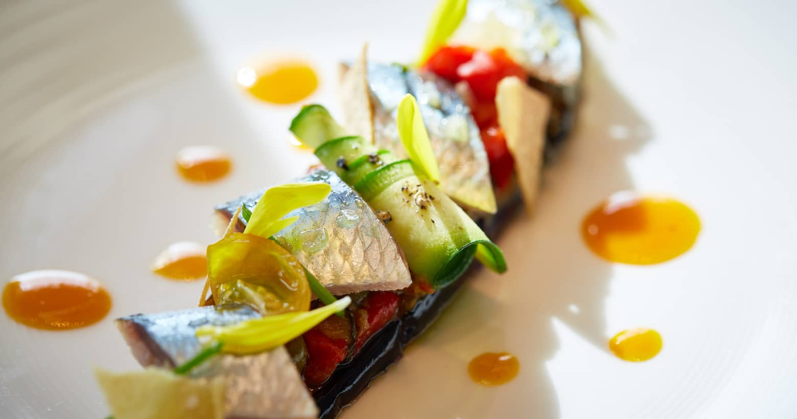 marinated sardine dish from K'shiki