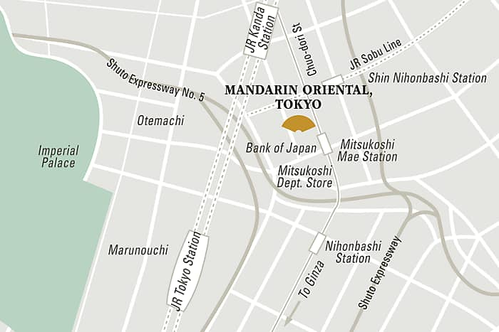 Mandarin Oriental, Tokyo hotel directions and map