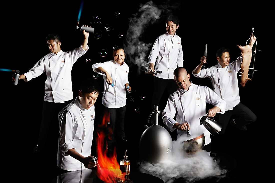 chef with the team