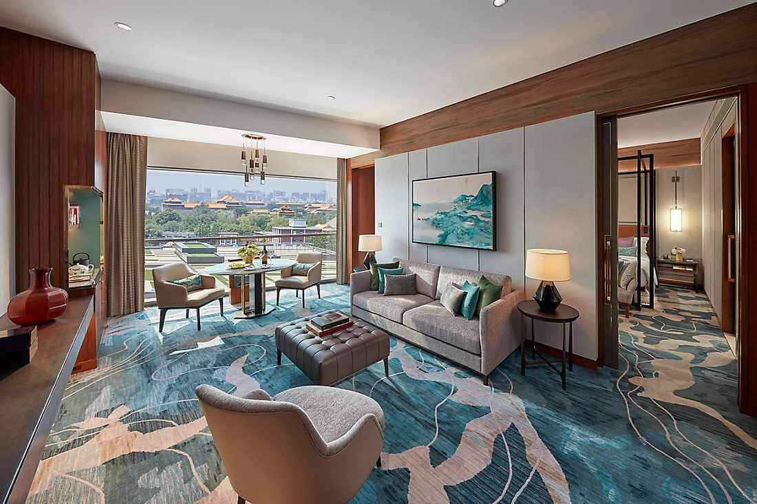 premier suite living room