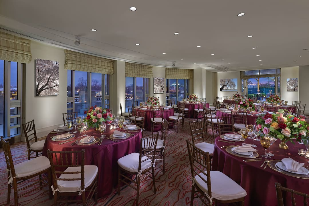 ballroom with round tables