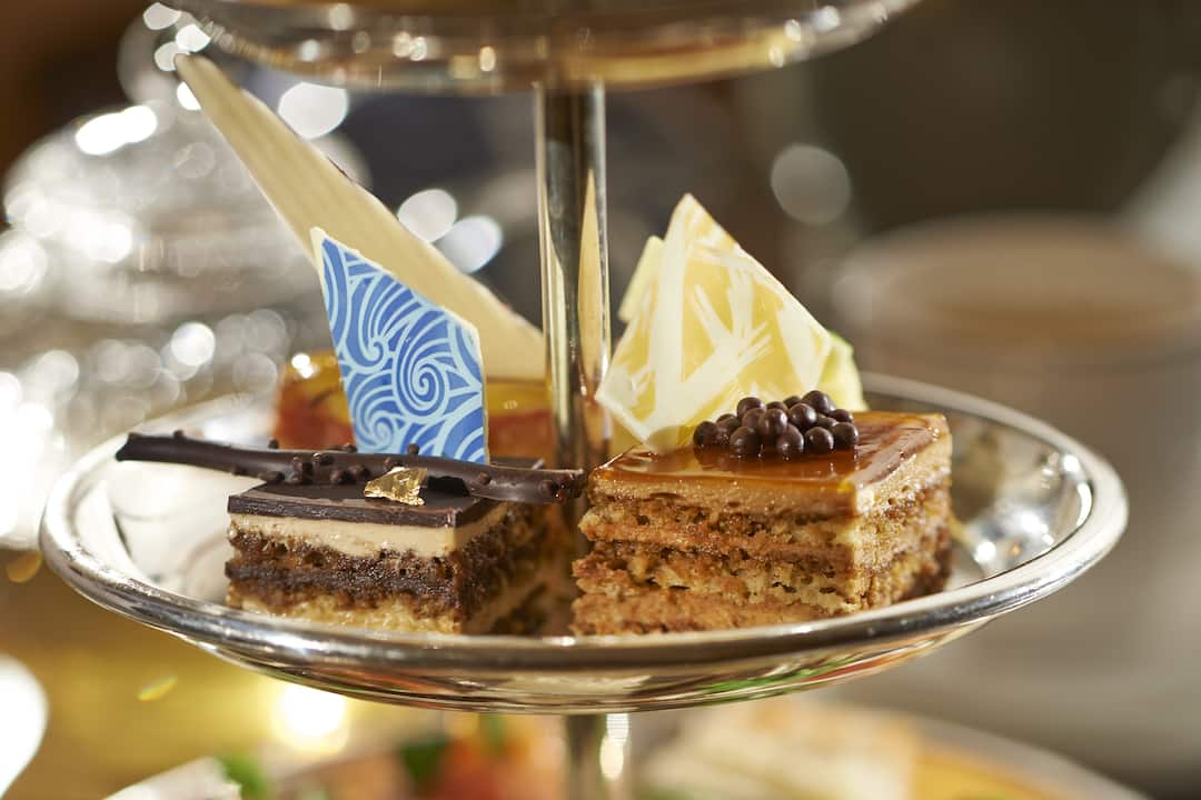 afternoon tea assorted cakes