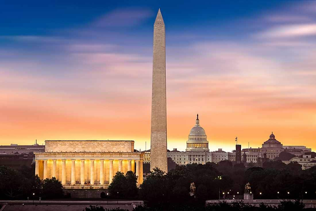 lincoln capital with sunset view
